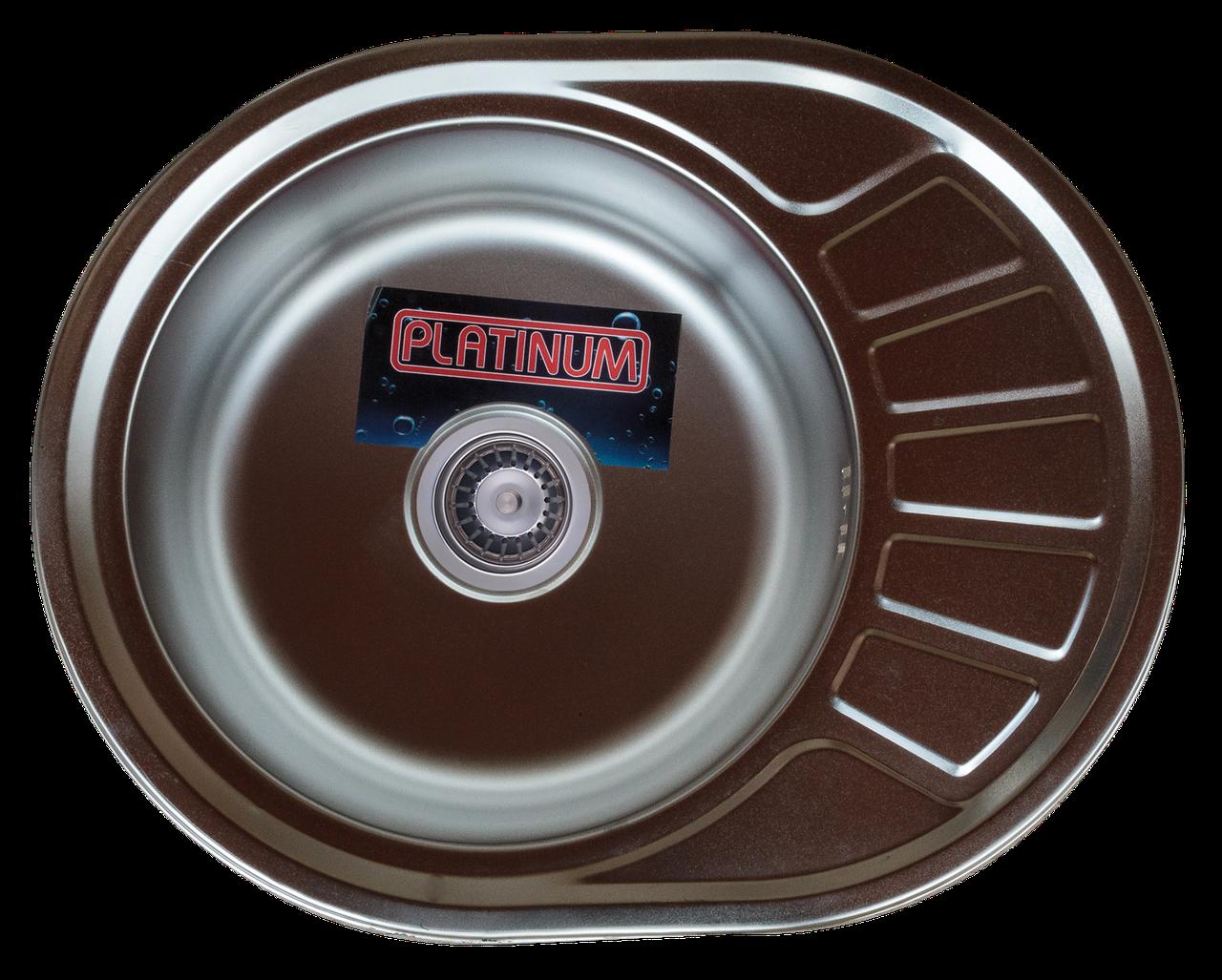 Нержавеющая мойка Platinum 5745 Polish 0,6мм