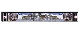 """Брызговик резиновый универсальный для грузовой прицепной техники с декоративным рисунком """"Волчья голова""""(8680)"""