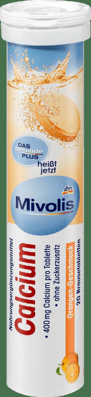 Шипучие таблетки-витамины Mivolis Calcium, 20 шт.