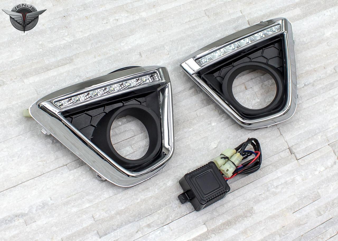 Рамки на ПТФ с DRL для Mazda CX-5 (2013-2015) стиль 1