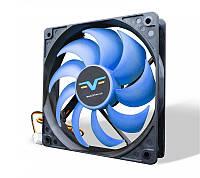 Вентилятор Frime (FBF120HB3) 120x120x25мм, 3Pin, Black/Blue