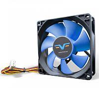 Вентилятор Frime (FBF80HB3) 80x80x25мм, 3Pin, Black/Blue