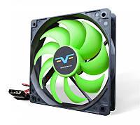 Вентилятор Frime (FGF120HB4) 120x120x25мм, molex, Black/Green