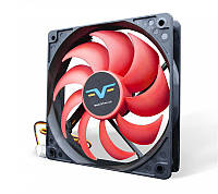 Вентилятор Frime (FRF120HB3) 120x120x25мм, 3Pin, Black/Red