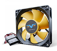 Вентилятор Frime (FYF80HB4) 80x80x25мм, molex, Black/Yellow