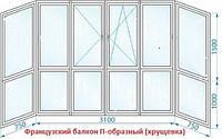 Полноростовые металлопластиковые балконы в Кропивницком