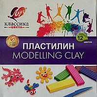 """Пластилін """"Класика"""" 12 кольорів"""