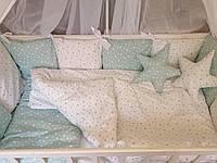 """Комплект детского постельного белья """"Perfect"""" со съемными чехлами. Зеленый, фото 1"""