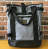 Рюкзак городской мужской спортивный (для учебы, работы, тренировок, путешествий) Interfool, серый + черный