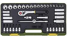 """Компактный набор инструмента со средней флажковой трещоткой Proxxon 3/8"""", 44 предмета (23282)"""