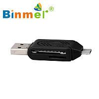 Картридер Card Reader Адаптер USB 2.0 Micro USB OTG