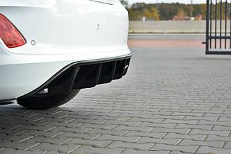 Диффузор заднего бампера юбка элерон накладки тюнинг Ford Fiesta Mk8 ST-Line