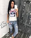 Женский костюм шорты и футболка с рисунком 76ks1361, фото 4