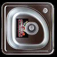 Мойка кухонная Platinum 3838B Satin 0,6мм