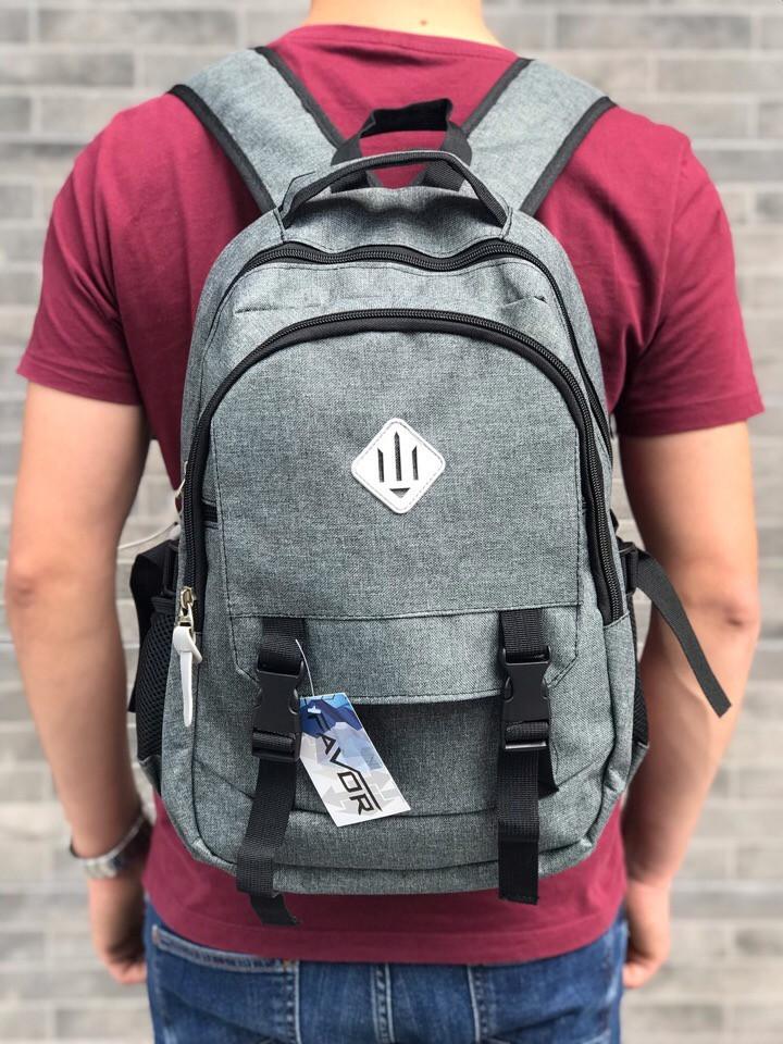 Рюкзак повседневный. Цвет: серый