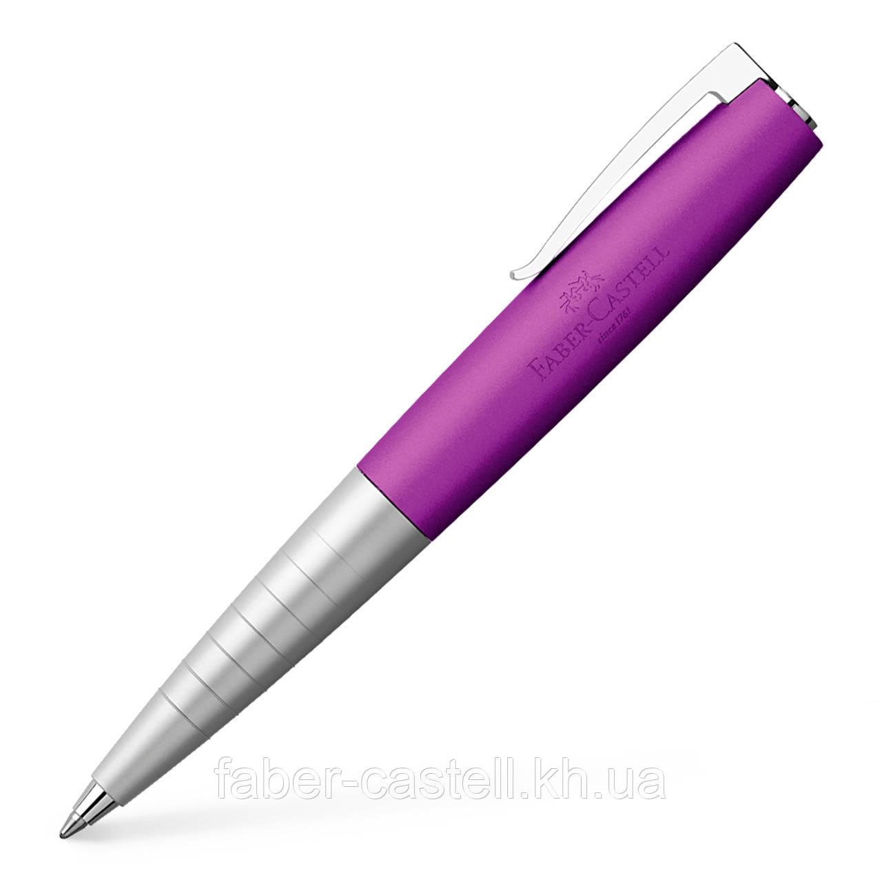 Шариковая ручка Faber-Castell LOOM Metallic Violet, корпус цвета серебро и фиолетовый металлик, 149003