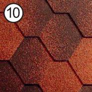 Битумная черепица RoofShield Стандарт 0.0, 25, Плоская, Классик кирпично-красный антик