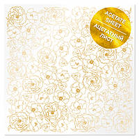 Ацетат з фольгуванням - Golden Pion - Fabrika Decoru - 30х30