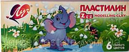 Пластилин Zoo 6 цветов мини