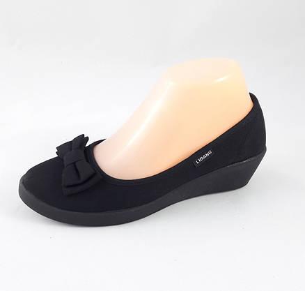 Женские Мокасины Чёрные Балетки Туфли на Танкетке (размеры: 36), фото 2