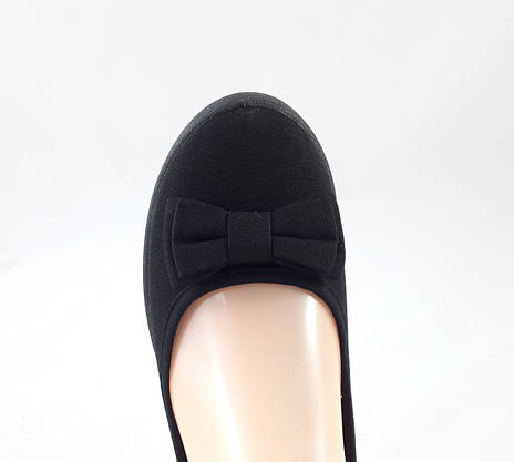 Женские Мокасины Чёрные Балетки Туфли на Танкетке (размеры: 36), фото 3