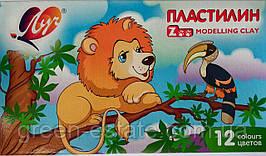 Пластилин Zoo 12 цветов мини