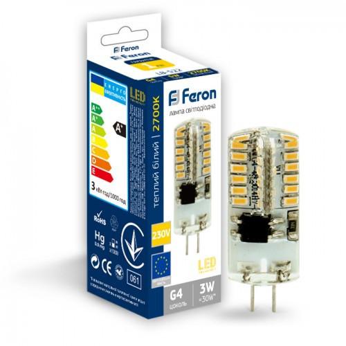 Светодиодная лампа Feron LB-522 230V 3W 48leds G4 2700K 240Lm