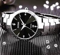 Часы мужские кварцевые в стиле Dom (Черные и Серебро)