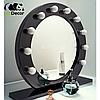 Зеркало настольное с лампочками для макияжа Sky розового цвета, фото 6