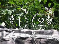 Акриловые номерки с подставкой на стол с гравировкой 13х9 см (№6), фото 2