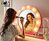 Зеркало настольное с лампочками для макияжа Sky розового цвета, фото 3