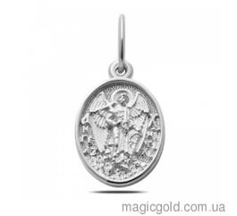Серебряная ладанка с изображением Ангела Хранителя