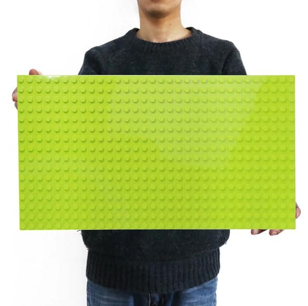 Строительная пластина 51x25.5 см Совместима с LEGO Duplo Салатовая