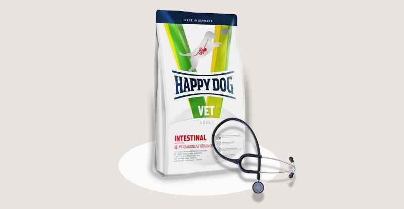 Корм Happy Dog Vet Diet Intestinal Хеппи Дог дієта для собак з порушеннями діяльності ШКТ 1 кг