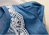 Оригинальное коттоновое  платье размер 98., фото 4