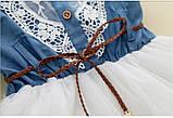 Оригинальное коттоновое  платье размер 98., фото 5