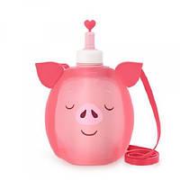 Детская бутылка для воды Джумони силиконовая. Пятачок, фото 1