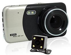 Автомобільний відеореєстратор DVR CT503 1080P з двома камерами