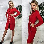 Женское стильное платье-рубашка с поясом (в расцветках), фото 3