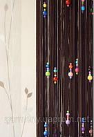 Штори нитки Капітошка коричневий