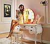 Зеркало настольное с лампочками для макияжа Sky черного цвета, фото 6