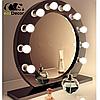 Зеркало настольное с лампочками для макияжа Sky черного цвета, фото 2