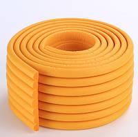 Защитная лента на углы мебели - ребристая. Оранжевая!!!, фото 1