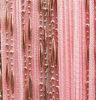 Штори нитки Краплі рожеві