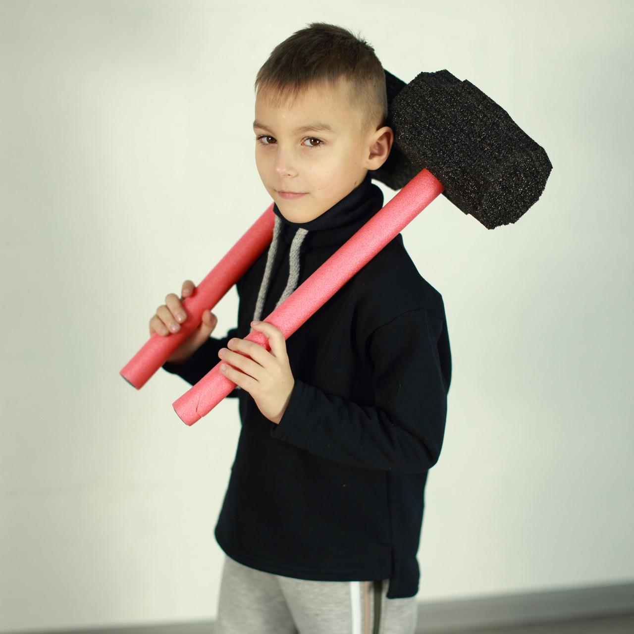 Толстовка с канатом для мальчика. Теплый детский джемпер | Толстовка з канатом для хлопчика