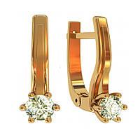 Золотые серьги с бриллиантами 0,30 карат