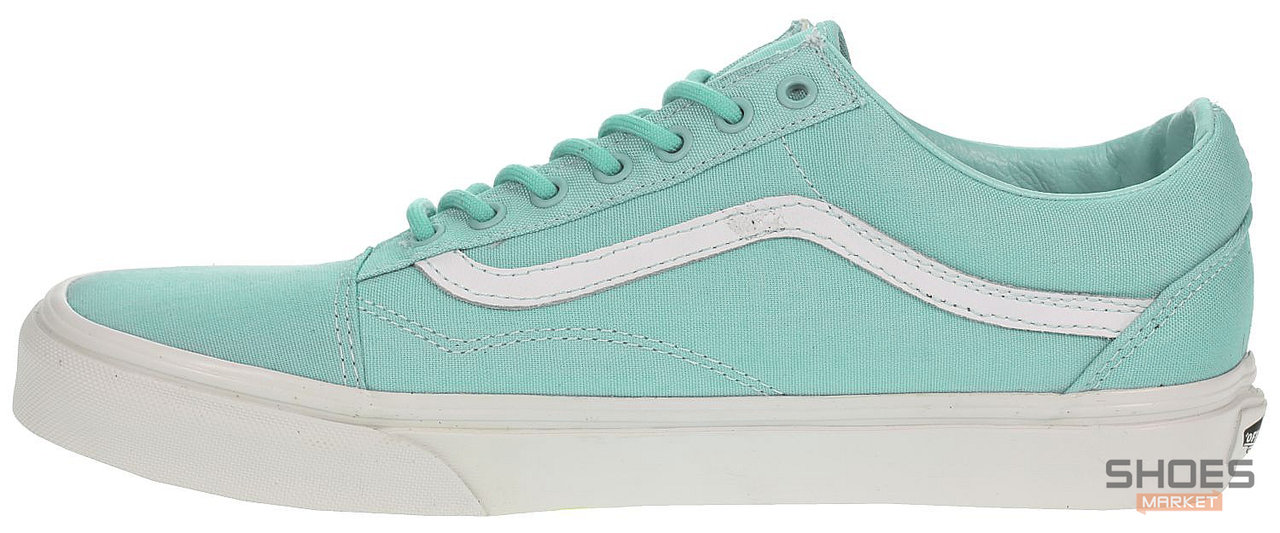 Мужские кеды Vans Old Skool Biscay Trainers Green True White, Ванс Олд Скул