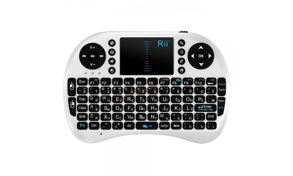 Клавиатура беспроводная с тачпадом NicePrice Rii mini i8 2.4G White (RUS, ENG)