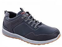 Кросівки чоловічі чорні / кроссовки мужские черные из кожзама 1007290467