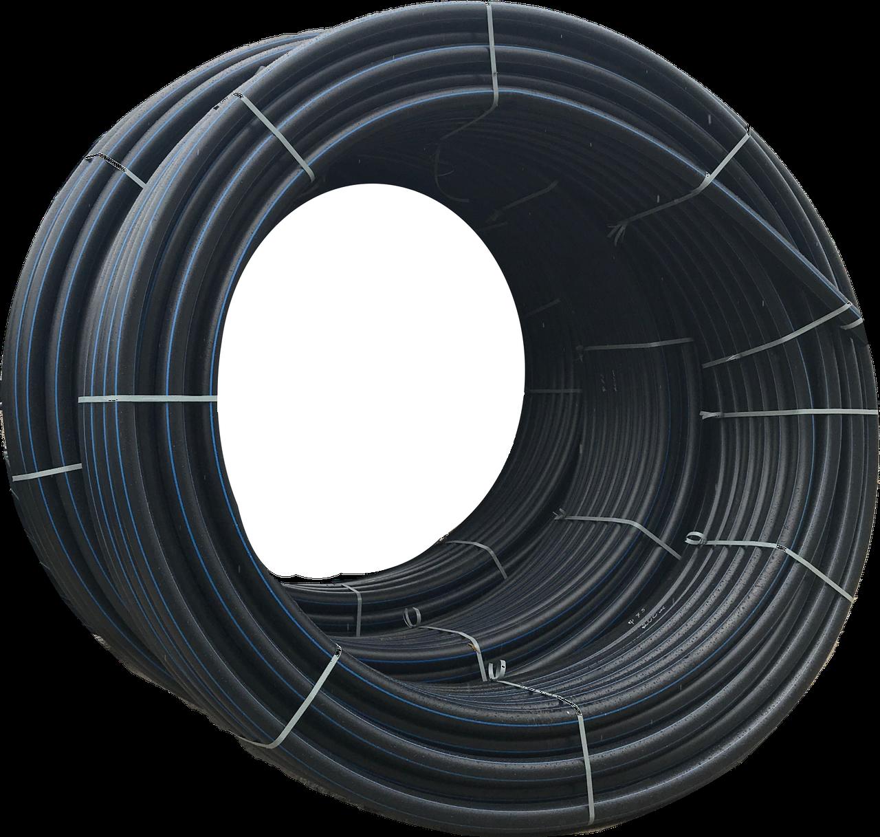 Труба поліетиленова для води 90х8,2мм бухта 100м ПЕ100 SDR11 16 атм харчова